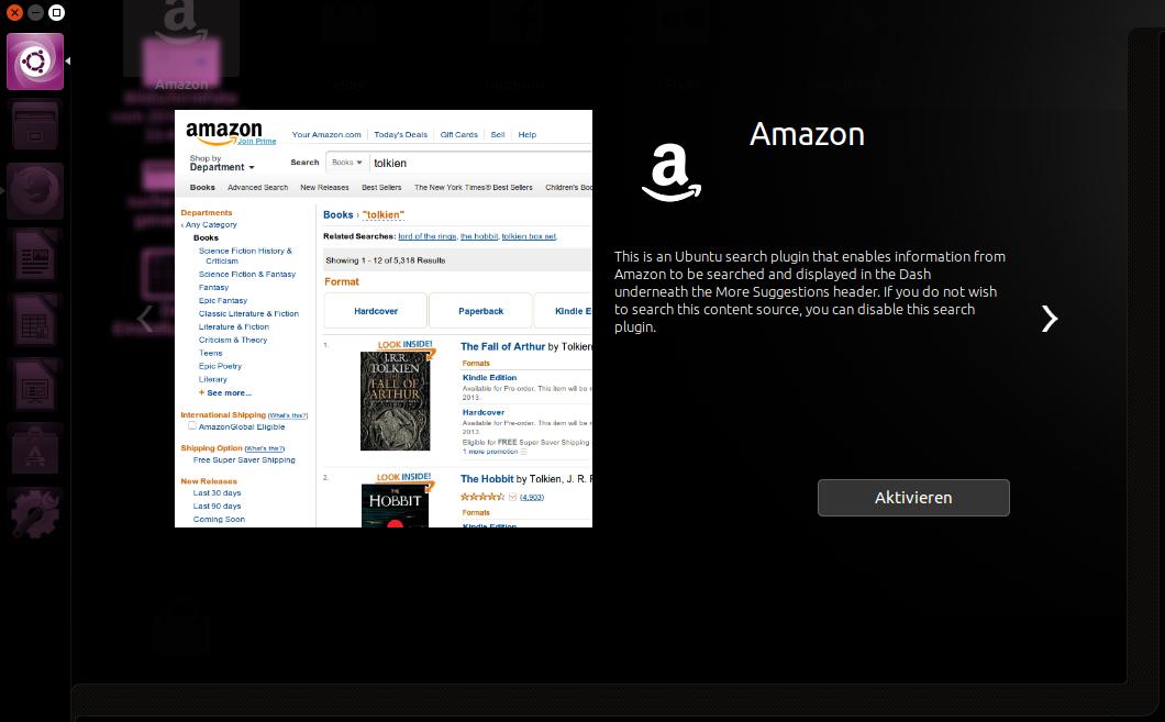Amazon ausschalten - Ubuntu