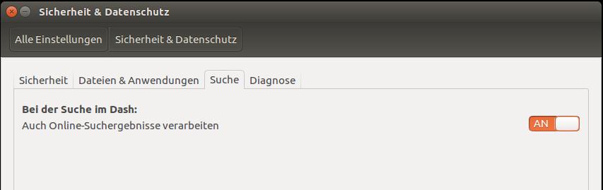 Online-Suche Ubuntu