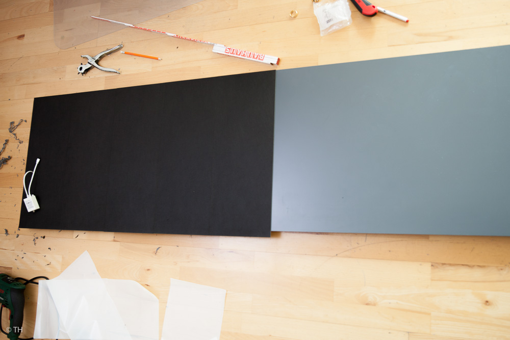 bekleben der Hart-PVC-Platte