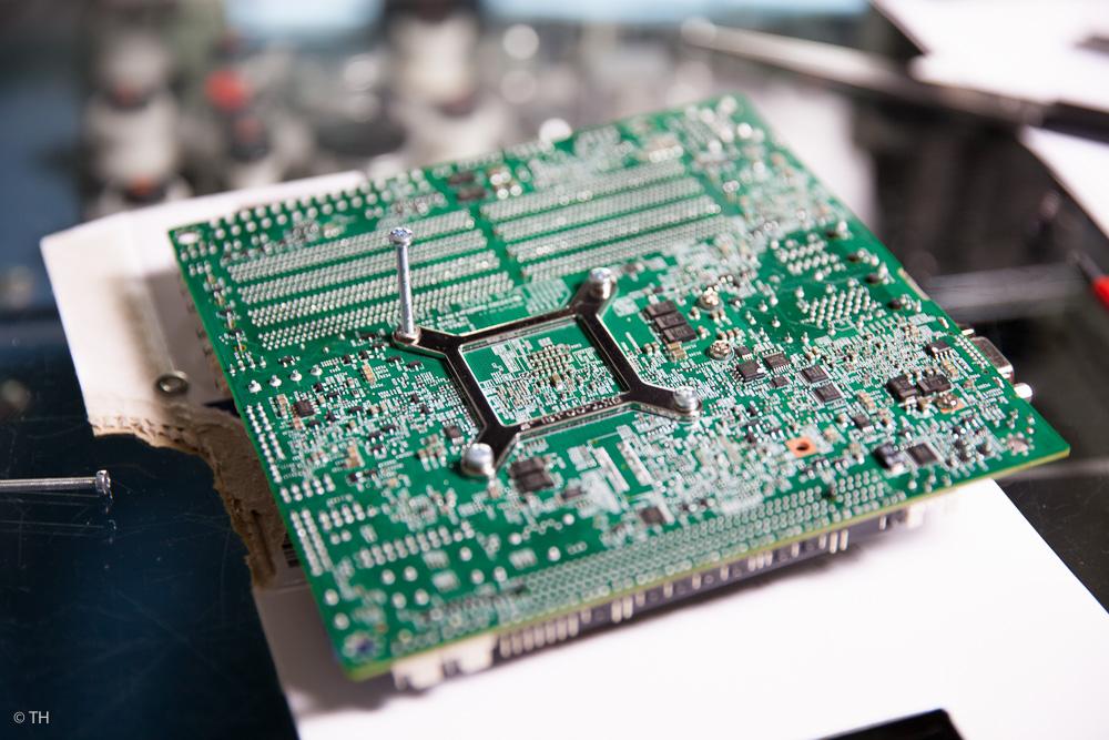 Rückseite des Serverboards