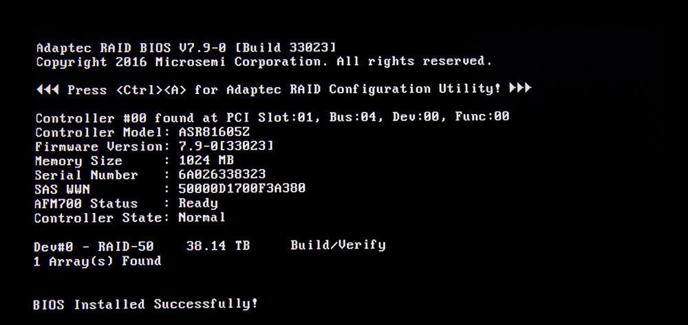 Raid-Controller BIOS