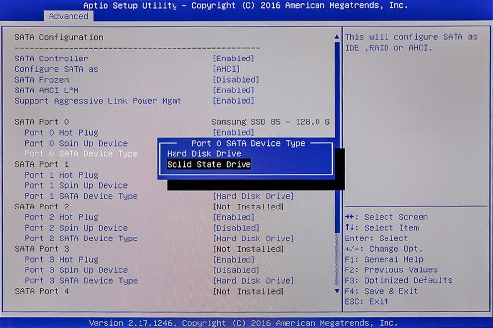 BIOS SSD einstellen