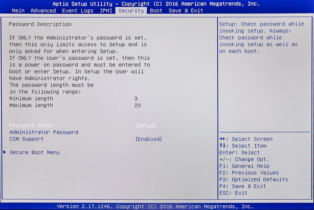BIOS absichern