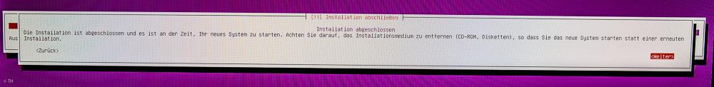 Ubuntu fertig installiert